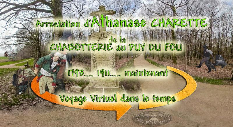 Arrestation d'Athanase CHARETTE ; de la CHABOTTERIE au PUY DU FOU (1793