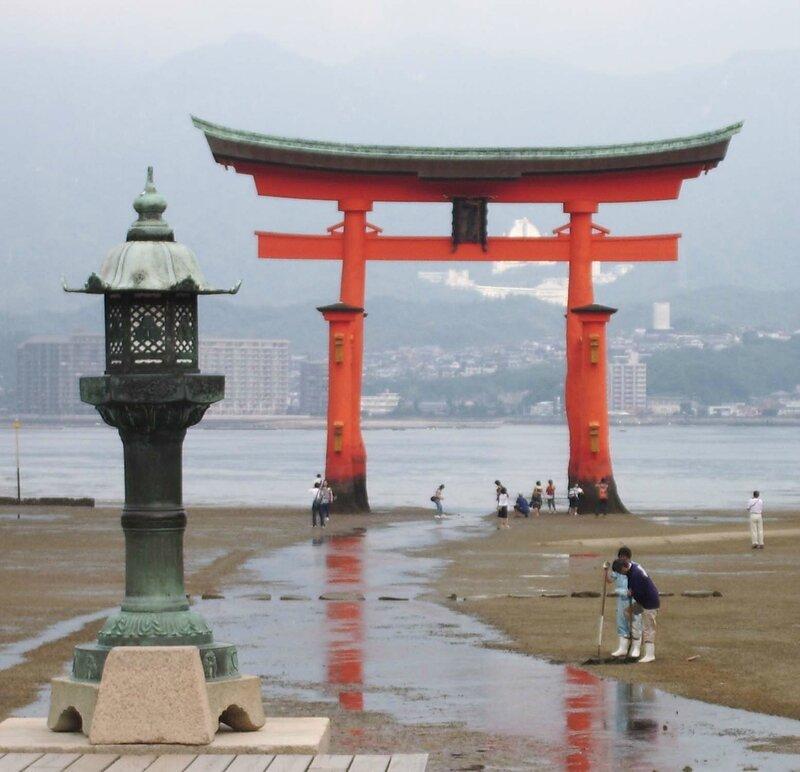 vue d'Itsukushima le grand Toriiblog