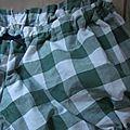 Culotte BIANCA en coton gros vichy vert - noeud marine (1)