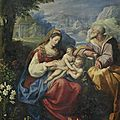 Jacopo zucchi (florence circa 1540-circa 1590 rome), the holy family with the infant saint john the baptist
