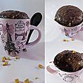 Mug cake caramel salé