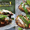 Tapas de poivrons verts et caballitas en escabeche {kitchen trotter - espagne}