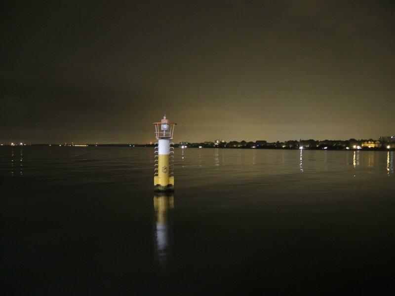 Sopot, la jetée de nuit, vue sur mer (Pologne)