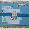 Cadeau de naissance et carte défi du créablablablog