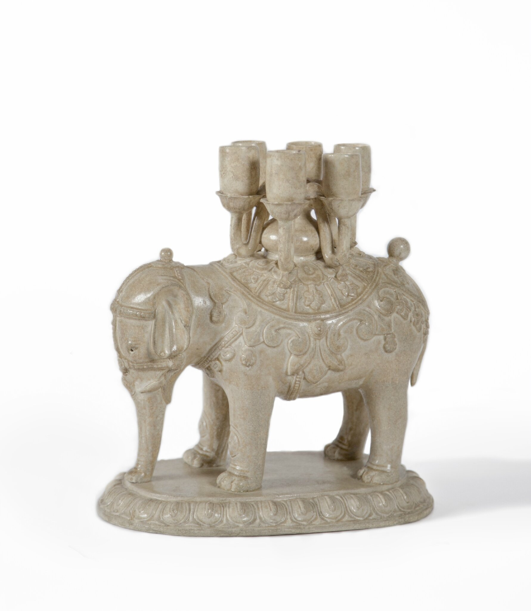 An elephant candelabrum, China, Tang Dynasty (618-907)