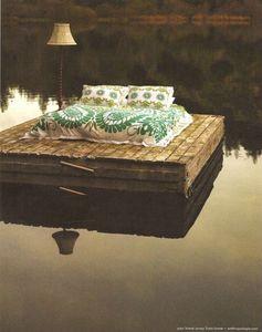 lit sur l'eau