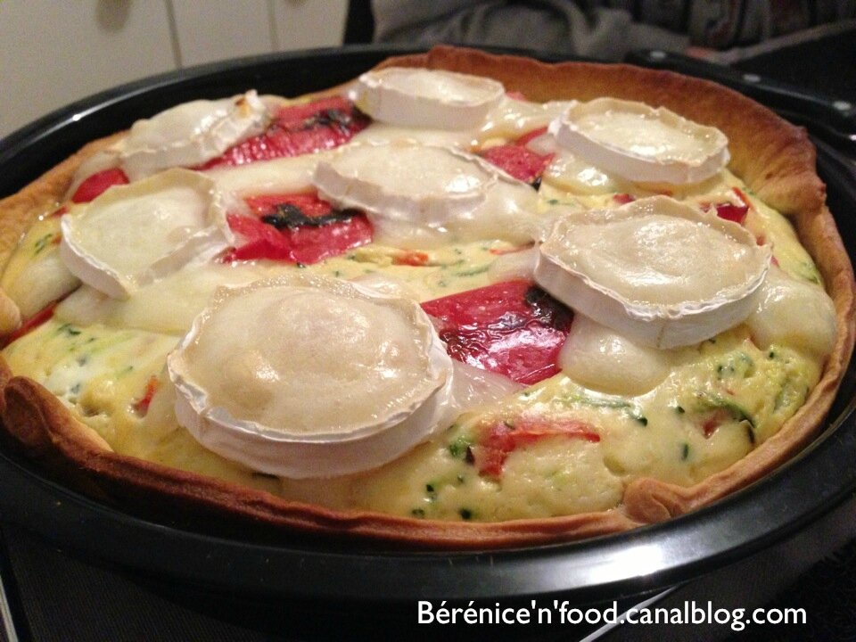 Recette N 35 Cheese Tarte Courgettes Et Poivrons Berenice N Food