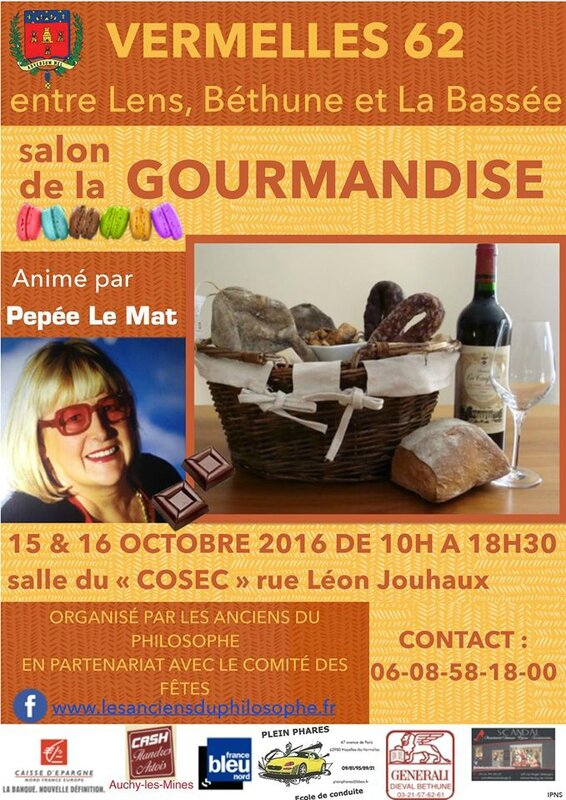 affiche salon gourmandise 2016