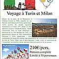 Voyage a turin et a milan : une petite escapade en italie ...... ne tardez pas à vous faire inscrire !