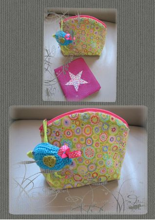 porte carte + trousse