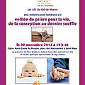 Veillee diocesaine pour la vie samedi 29 novembre a notre dame du rosaire de saint maur