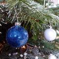 Noël bleu glacier