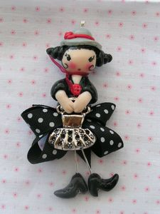 mary poppins noir gris blanc