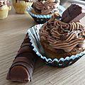 Cupcakes au kinder bueno et glaçage au nutella