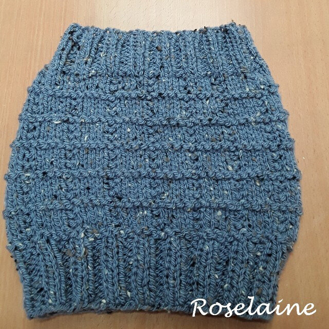Roselaine snood point carreaux