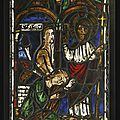French, first half 13th century and later, window with one of the miracles of christ