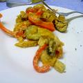 Sauté de tofou & petits légumes.