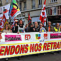 Manifestations des retraités en alsace