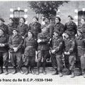 Une photo du groupe franc en 1939/40 du 8e B.C.P