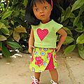 Une jupe portefeuille bicolore!