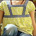 N°17 : tunique jaune et grise- 8 euros