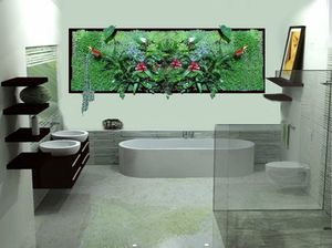 salle de bain plus végétaux