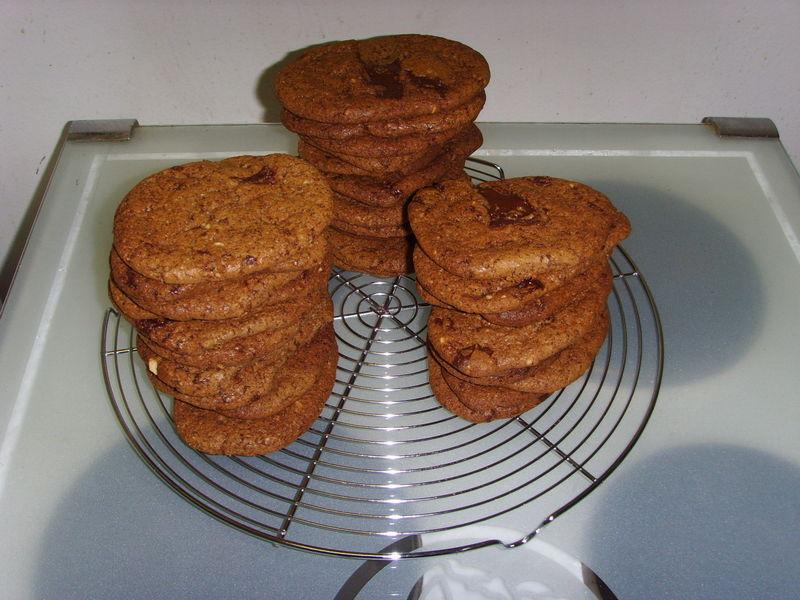 Cookies au chocolat - Noix de macadamia (Pierre Hermé)