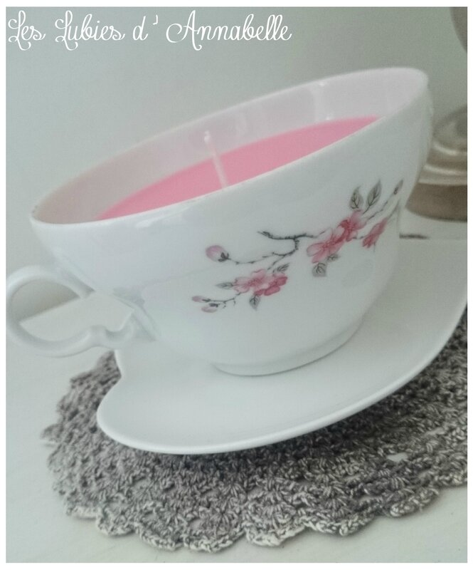 Bougie tasse à café