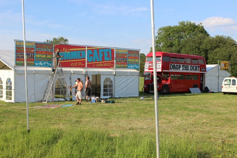 Glastonbury festival 2014 Drop the dept Pilton Worthy Farm traders