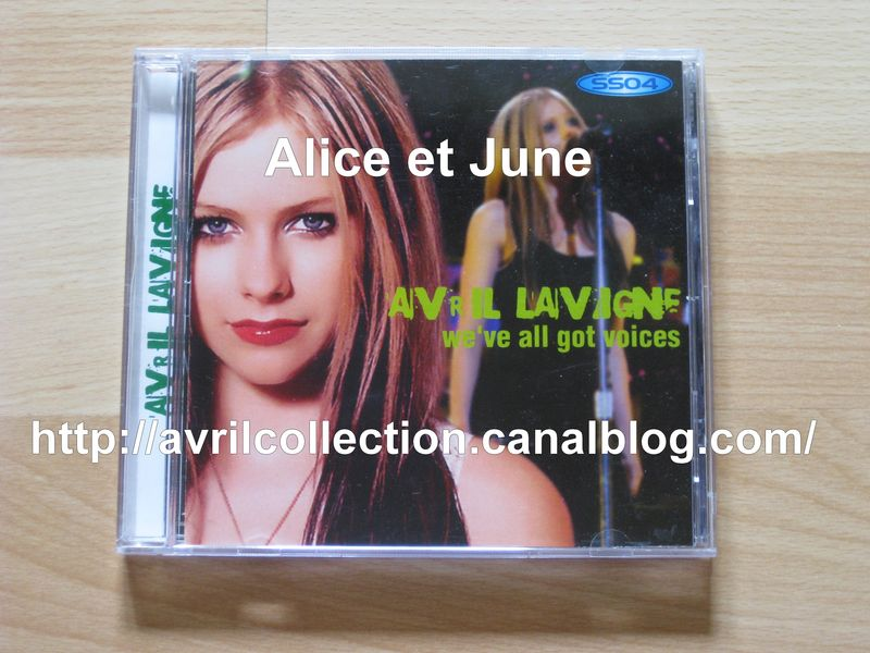CD japonais Avril Lavigne-We've Got All Voices