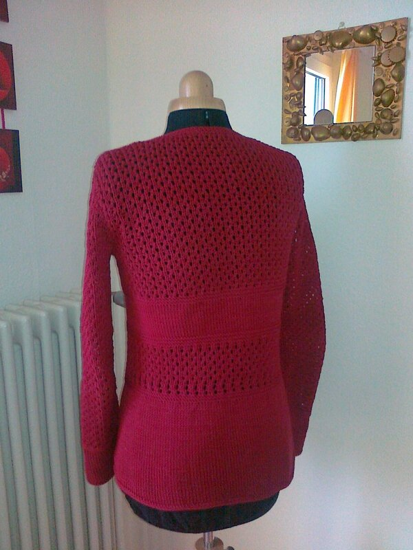 Gilet cotton rouge