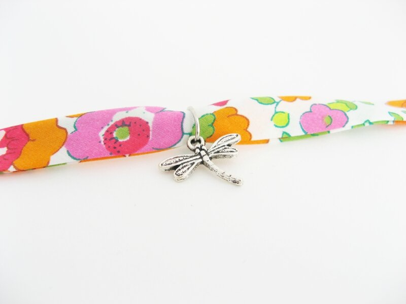 bracelet betsy orange libellule focus