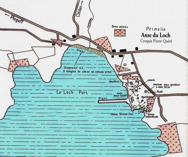 CH19 - Croquis de l'anse du Loch durant la 2 ème guerre mondial