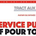 Sncf: tract aux usagers