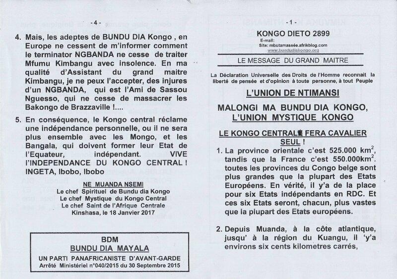 LE KONGO CENTRAL FERA CAVALIER SEUL a