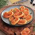 Palmiers sauce tomates et appenzeller