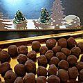 Truffes au chocolat, vanille et fève de tonka
