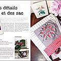 { passion couture créative n°5 : deux articles pour vous... }