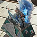 Card in a box Reine des Neiges - transparence