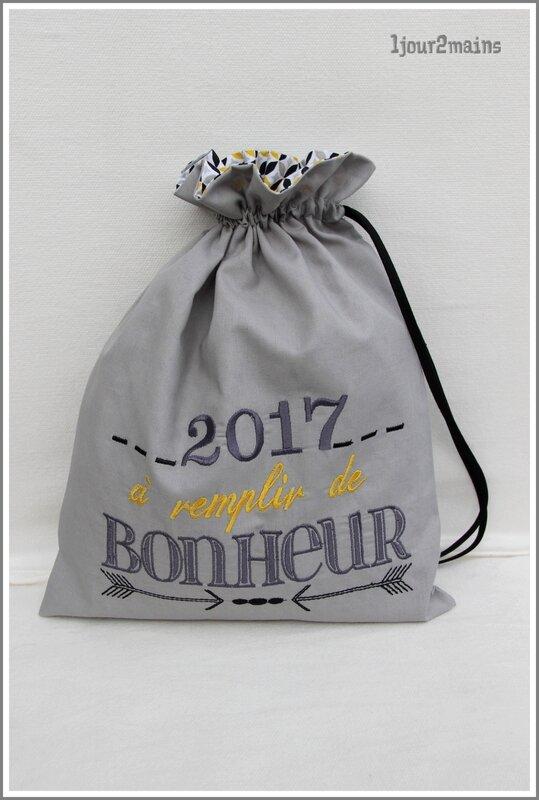sac bonheur a remplir 2017 jaune et gris