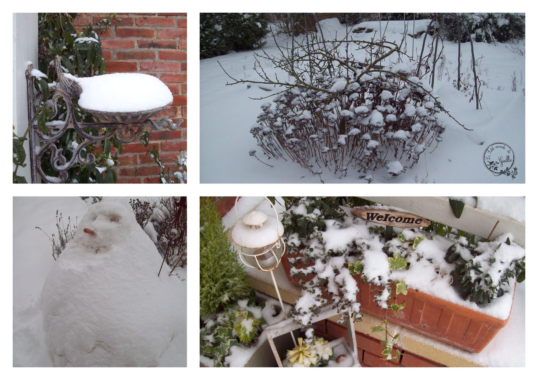 des petits bouts sous la neige...