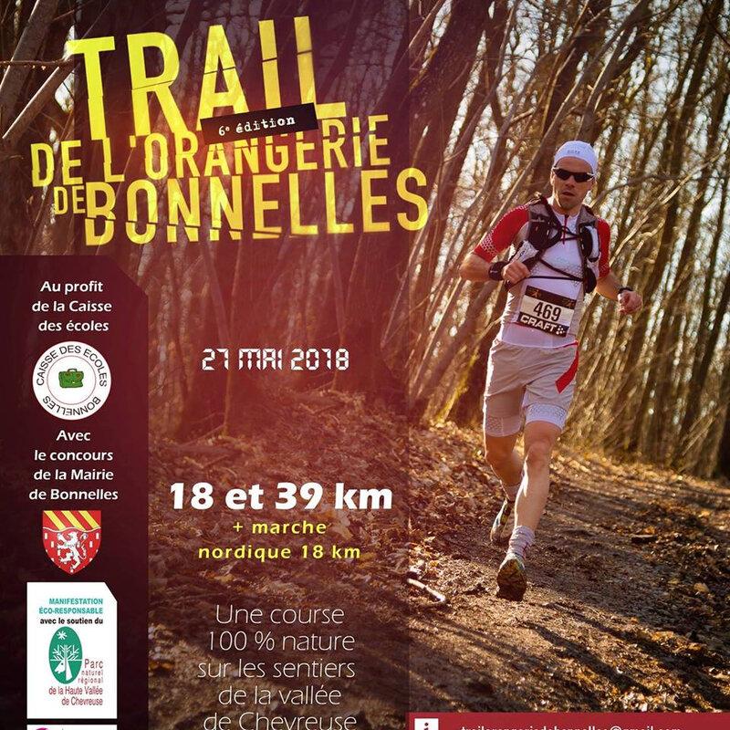 Affiche Trail de l'Orangerie de Bonnelles 2018