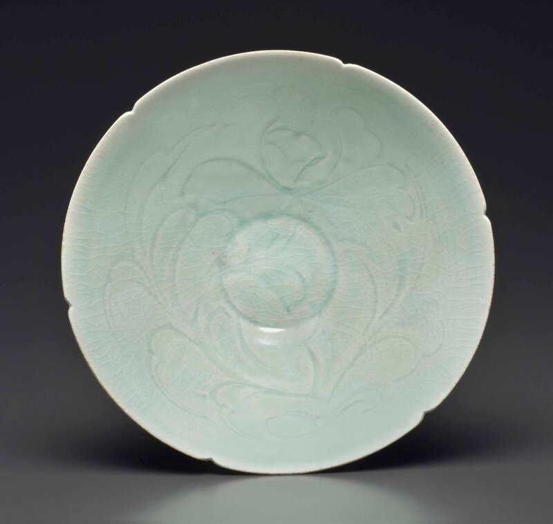 A Qingbai carved deep conical dish, Southern Song dynasty, 13th century