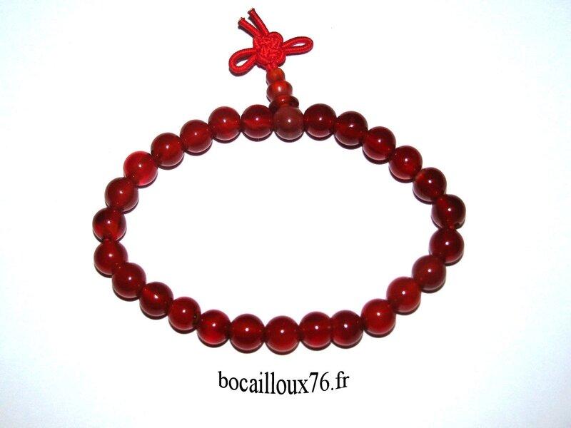 Bracelet CORNALINE 4 Perles 6mm (2)