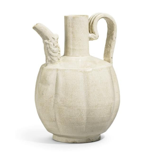 Lot 42. A Ding-type ewer, Song Dynasty (960-1279); 18.7cm, 7 3/8 in. Estimate 8,000—12,000 GBP. Lot Sold 16,250 GBP. Photo Sotheby's 2011