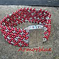 super duo knit herringbone bracelet rouge copie
