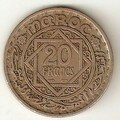 Monnaie du Maroc, fin 19eme siècle à la moitié du 20eme siècle.