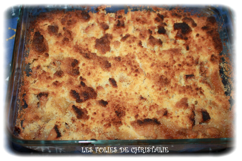Crumble pommes bananes coings 6