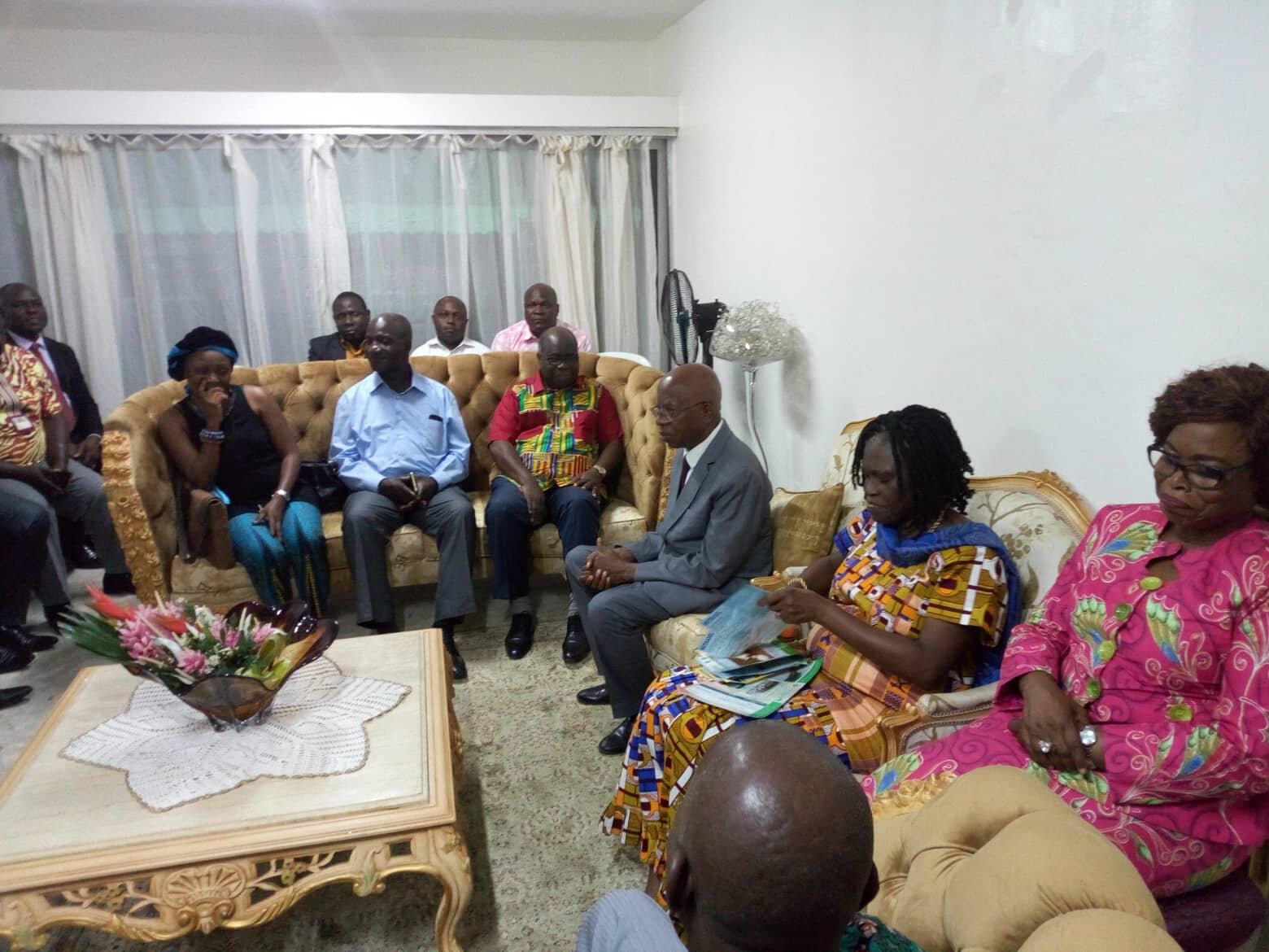 Audience de la Première Dame Simone Ehivet Gbagbo à la Cellule Universitaire de Recherche et de Formation politique du FPI