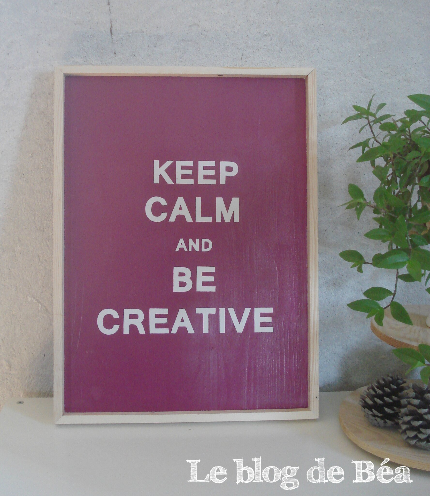 DIY tableau en planches de palette keep calm